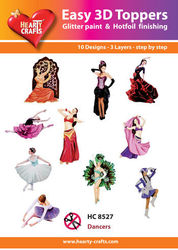 Hearty Crafts Easy 3D Toppers - Dancers HC8527 (Locatie: K2)