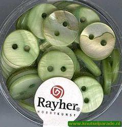 Rayher sierknopen parelmoer groen 17 062 409* (Locatie: 4RS8 )