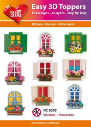 Hearty Crafts Easy 3D Toppers Window & Flowerboxes HC9203 (Locatie: K2)