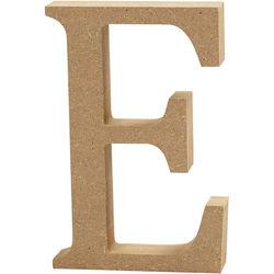 Letter E, hoogte 13 cm, dikte 2 cm, MDF, 1stuk (Locatie: KB)