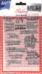 Joy! Crafts Clear Stamps Bakery 6410/0086 (Locatie: A338)