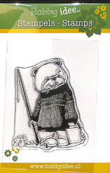 Hobby Idee Clear Stamp Beer met Hengel Hi-stamp 0031 (Locatie: A378)