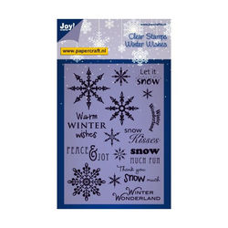Joy! Crafts Clear Stamps Winter Wishes 6410/0104 (Locatie: E325)