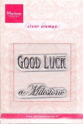 Marianne Design Clear stamp Good Luck/a Milestone CS0884 (Locatie: NN024)