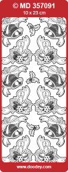 Stickervel zilver kerstmis MD357091 (Locatie: e103)