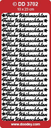 Stickervel zilver Frohe Weihnachten DD3702 (Locatie: C143)