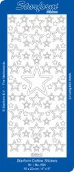 Starform sticker rood sterren 856 (Locatie: B367)