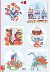 Marianne Design knipvel I love Holland - Tulpen EWK1275 (Locatie: 1141)