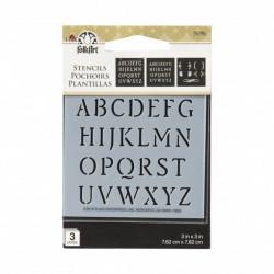 FolkArt stencil monogram 3pc 59796 (Locatie: H327)