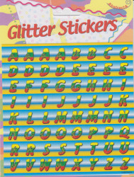 Abstracta glitter stickers letters (Locatie: 0921)