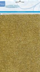 5x Marianne Design Glitterpapier A5 goud CA3121 (Locatie: s1)