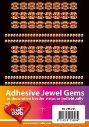 Adhesive Jewel Gems zelfklevende strips geel HC 7455 04 (Locatie: 1F )