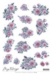 Amy Design knipvel bloemen CD11153 (Locatie: 2559)