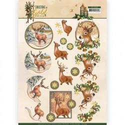 Amy Design knipvel kerstmis in goud CD11359 (Locatie: 2373)