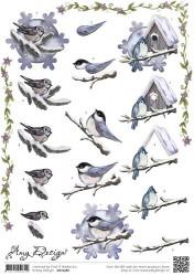 Amy Design knipvel winter vogels CD10582 (Locatie: 0717)