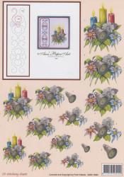 Ann's Paper art knipvel kerstmis met borduurpatroon 3DSS 10005 (Locatie: 2768)
