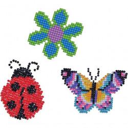 Diamond Dotz stickers, lieveheersbeestje bloem en vlinder, 18x10cm
