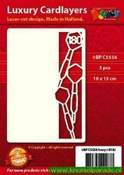 Doodey oplegkaarten darten 3 stuks ivoor BPC5556 (Locatie: K134 )