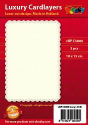 Doodey oplegkaarten klassiek 3 stuks ivoor BPC5806 (Locatie: K049)