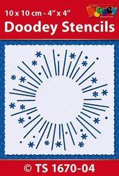 Doodey Stencil Firework 10 x 10 cm TS1670-04 (Locatie: 4630)