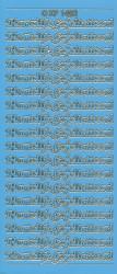 Doodey stickervel hartelijk gefeliciteerd lichtblauw XP1402 (Locatie: T145)