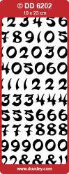 Doodey stickervel zilver cijfers DD6202 (Locatie: i351 )