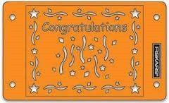 Fiskars Embossing Stencil Set Congratulations 5673 (Locatie: M71)