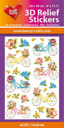Hearty Crafts 3D Relief Stickers Bicycles HCRS11028-10 (Locatie: 6737)