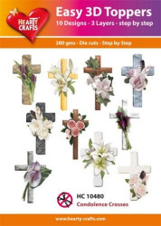 Hearty Crafts Easy 3D Toppers Condolence Crosses HC10480