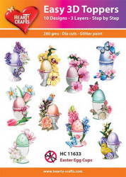 Hearty Crafts Easy 3D Toppers Easter Egg Cups HC11633 (Locatie: K2)