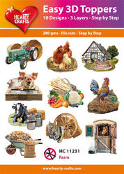 Hearty Crafts Easy 3D Toppers - Farm HC11231 (Locatie: 5R)