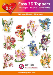 Hearty Crafts Easy 3D Toppers Garden Fairies HC11878 (Locatie: K2)