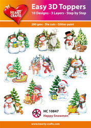 Hearty Crafts Easy 3D Toppers - Happy Snowmen HC10847