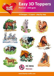 Hearty Crafts Easy 3D Toppers Horses HC9856