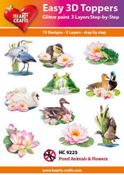 Hearty Crafts Easy 3D Toppers - Pond Animals & Flowers HC9223 (Locatie: 5R)