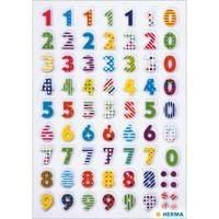 Herma stickers transpuffy kleurrijke cijfers 1 vel 3094 (Locatie: HE001)