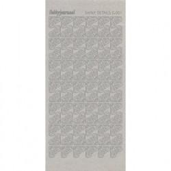 Hobbyjournaal stickervel transparant zilver glitter C.001 (Locatie: h207)