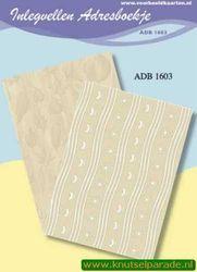 Inlegvellen adresboekje ADB 1603 (Locatie: D32 )