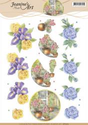 Jeanine's Art knipvel bloemen CD11205 (Locatie: 4607)
