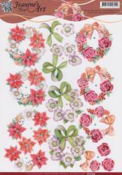 Jeanine's Art knipvel kerstkransen CD10979 (Locatie: 4541)