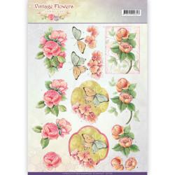 Jeanine's Art knipvel vintage flowers CD11046 (Locatie: 2419)