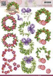 Jeanines Art knipvel Christmas Wreaths CD10552 (Locatie: 901)