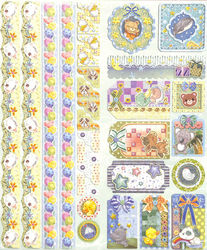 Joy!Crafts Sparkling Embossed stickers Pasen 6013/0025 (Locatie: 1RA1)