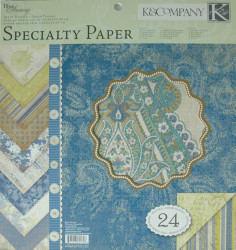 K&Company Specialty Paper, 24 vellen, 30,5x30,5 cm (let op: kleine beschadiging op 1 papiertje)