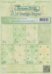Le Crea Design, design paper, Green tones, A5 51.9258 (Locatie: S2)