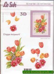Le Suh 3D schilderij bloemen nr. 4135003 (Locatie: 2438)