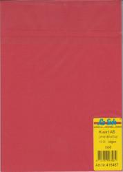 Le Suh kaarten A5 linnenstructuur rood 10 stuks 415467