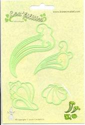 Leane Creatief snij- embossingmal zeeschelpen en golven 45.8121 (Locatie: L229 )