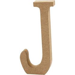 Letter J, hoogte 13 cm, dikte 2 cm, MDF, 1stuk (Locatie: KB)