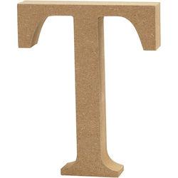 Letter T, hoogte 13 cm, dikte 2 cm, MDF, 1stuk (Locatie: KB)